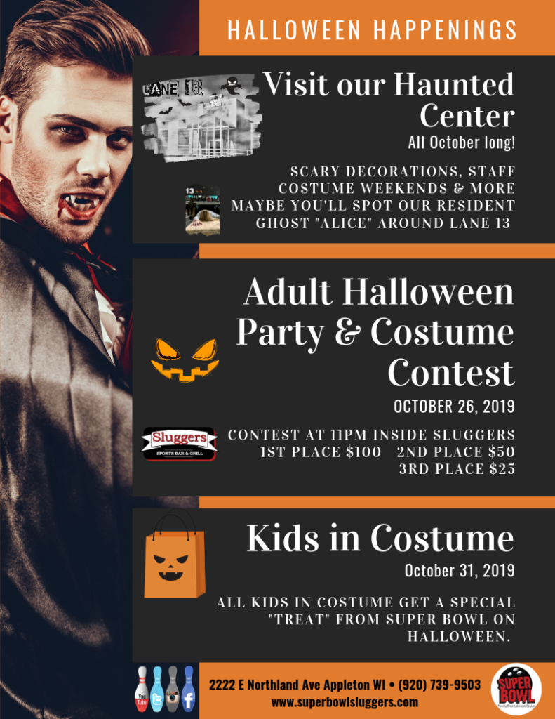 Adult Halloween Party & Costume Contest | Sluggers Sports Bar & Grill | Appleton WI