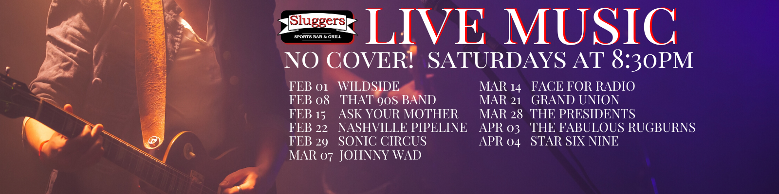 Live Music | Cover Bands | Live Entertainment | Sluggers Sports Bar & Grill | Appleton WI