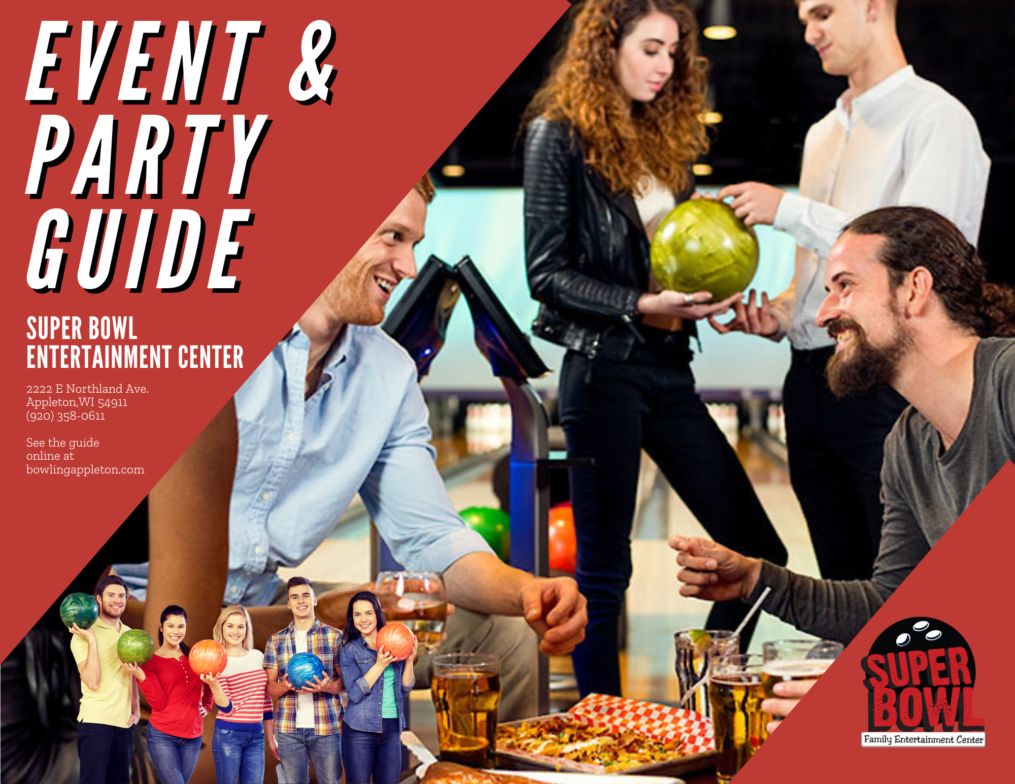 super bowl's holiday party guide oct 2020 | holiday parties at super bowl entertainment center | bowling holiday parties | holiday events at super bowl | super bowl family entertainment center | appleton, wi